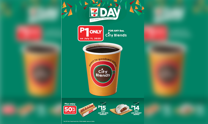 1-peso coffee, grocery at half the price on 7-11 day