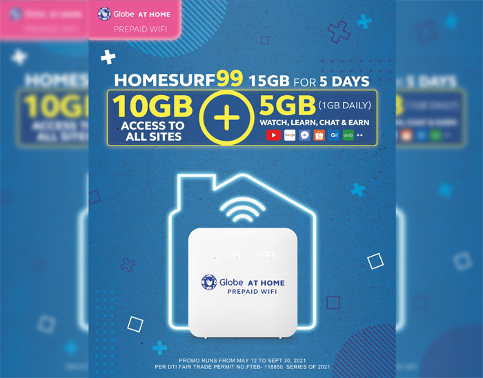 HomeSURF99 now offers 15GB for 5 days with Globe At Home Prepaid WiFi