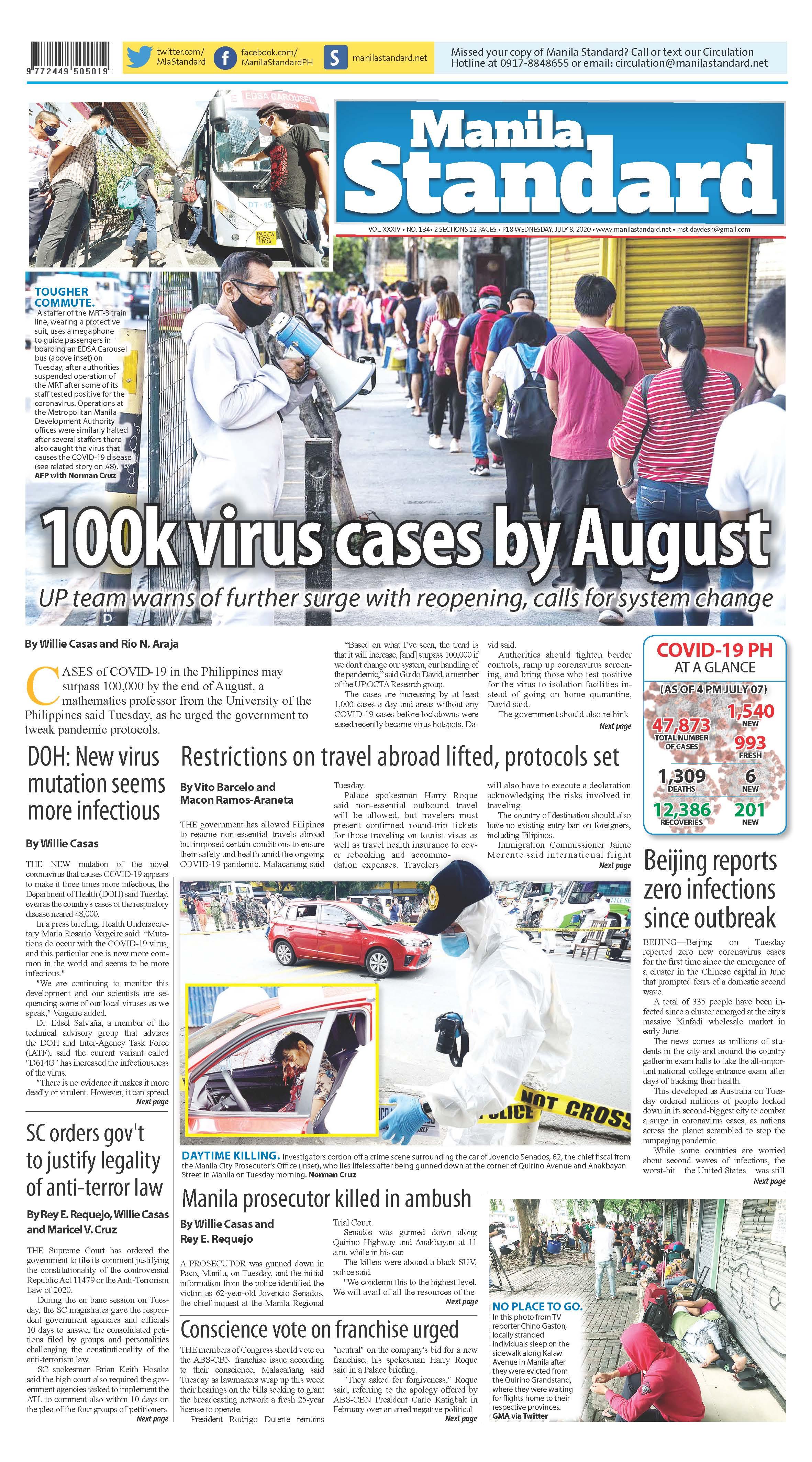Wednesday Print Edition (07/08/2020)