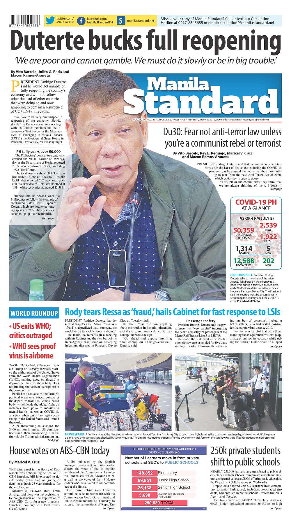 Thursday Print Edition (07/09/2020)