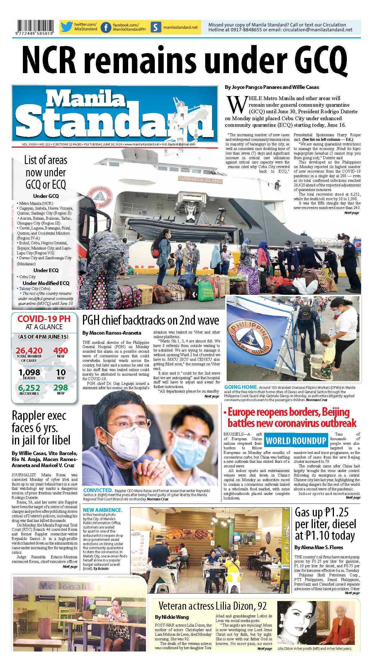 Tuesday Print Edition (06/16/2020)