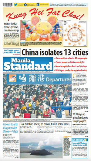 Saturday Print Edition (01/25/2020)