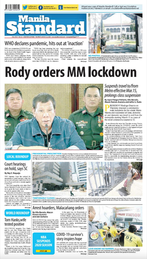 Friday Print Edition (03/13/2020)