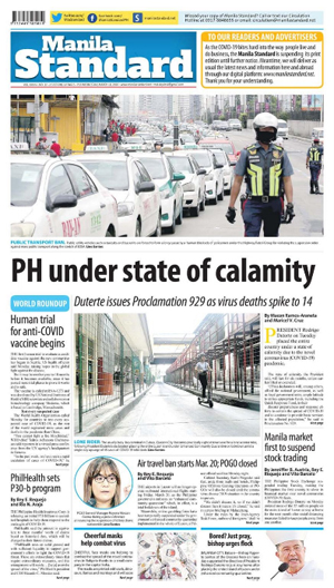 Wednesday Print Edition (03/18/2020)