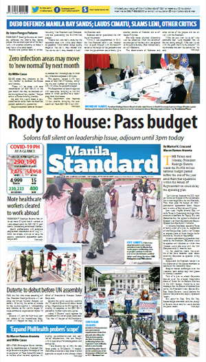 Tuesday Print Edition (09/22/2020)