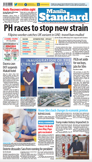 Friday Print Edition (01/15/2021)