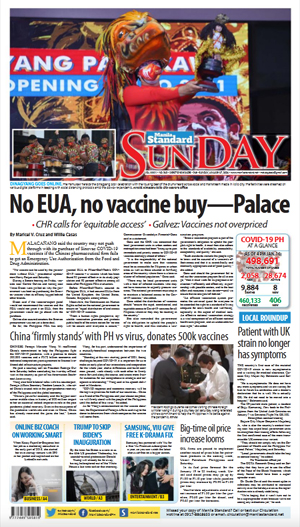 Sunday Print Edition (01/17/2021)